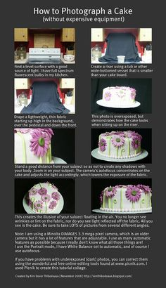 how to photograph a cake