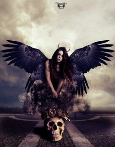 Dark fallen angel gothic