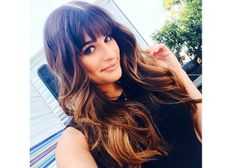 ombre long hair with bangs
