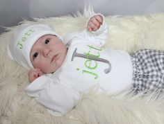 Newborn Baby Boy Take Home Outfit Baby Boy Clothes by sassylocks