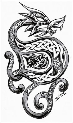 Image detail for -celtic_dragon_3_by_roblfc1892.jpg Celtic dragon tattoo