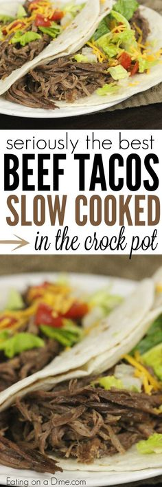 Did you know you can make the best shredded beef tacos in the crock pot. You have to try this Crock pot Beef Tacos recipe. You will not be disappointed.