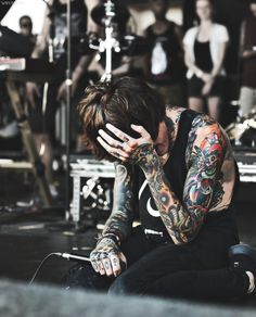 Oli Sykes- This image is truly one of my favourites. It shows such raw emotion.