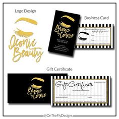 ⋆★⋆ I seriously have the best clients e v e r ! I had so much fun creating @browsbyconnie logos, business cards, and gift certificates! #OnTheFly #OnTheFlyDesigns #BusinessCards #Modern #Microblading #Eyebrows #permanentmakeup #Brows #EyelashExtensions #MUA #Makeup #MicrobladingBusinessCards #GraphicDesign #Design #Graphics #Artwork #Logos #DigitalArt #Branding #SmallBusiness #Love #Follow #BlackAndWhite #BlackAndWhiteStripes #StripeBusinessCards #Gold #GiftCertificate