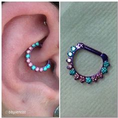 An @industrialstrength clicker ring in a daith piercing by @bbpiercist