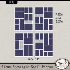 ISO: 8.5x11 photo collage templates - DigiShopTalk Digital Scrapbooking