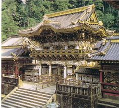 Toshogu Shrine in Nikko, Japan  Love the Shrine. Decorated with the 3 monkeys. See no evil, hear no evil & say no evil.