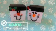 Caja para regalo Muñeco de Nieve | Aprender manualidades es facilisimo.com