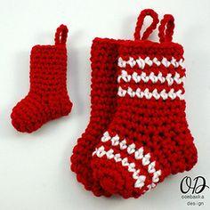 Little Christmas Stockings for Gift Giving - Free Crochet Pattern by @OombawkaDesign   Featured at Oombawka Design - Sponsor Spotlight Round Up via @beckastreasures   #fallintochristmas2016 #crochetcontest #spotlight #crochet #roundup