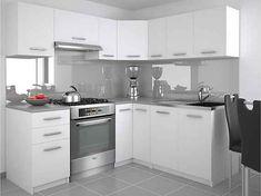 Moderní rohová kuchyně bílá Ankara 190 x 170 cm Kitchen Island, Kitchen Cabinets, Ankara, House, Yogurt, Home Decor, Kitchens, Crystals, Island Kitchen