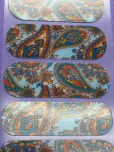 Jamberry-Half-Sheet-Psychedelic-Style-Rare-Retired
