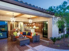 Toll Brothers - The Montilla home design lives well both indoors and outdoors.