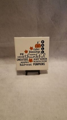 6x6 Fall Ceramic Tile/Autumn Kitchen Trivet/Fall Wall Decor/Autumn Wall Decor