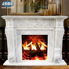 White Marble Fireplace Mantel www.jsbluesea.com info@jsbluesea.com whatsapp wechat:0086-13633118189 #art #artrestoration #fireplace #marblefireplace #jsbsmarble #jsbsstone #JSBS Marble Fireplace Mantel, Marble Fireplaces, Fireplace Mantels, Marble Columns, Stone Columns, Chinese Valentine's Day, Marble Carving, Stone Fountains, Stone Veneer