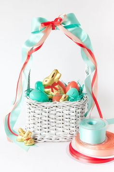 Lindt Chocolate Easter Baskets 3 Ways | Oh Happy Day!