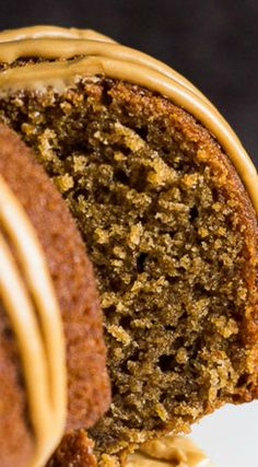 Coffee Bundt Cake ~ Scrumptiously moist and fluffy, infused with coffee, and drizzled with a sweet coffee glaze!