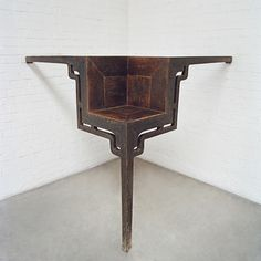 Ai Weiwei, Table with Three Legs. table from the late Ming or early Qing Dynasty Ai Weiwei, Modern Art Sculpture, Geometric Sculpture, Art Sculptures, Art Informel, Tachisme, Antique Chinese Furniture, Wei Wei, Different Kinds Of Art