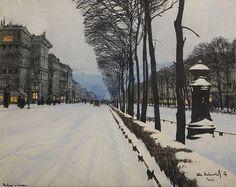 Odo Dobrowolski (Polish, 1883-1917),Boulevard in the Snow, 1909