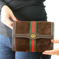 Gucci Suede Clutch, $175, now featured on Fab.