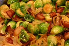 Serves 4-6 INGREDIENTS 4 strips thick-cut bacon 2 tablespoons butter 500g Brussels sprouts, halved 1/2 large onion, chopped Salt and freshly ground black pepper METHOD Cook bacon in a large skillet over medium-high heat until crispy. Remove to a paper towel-lined plate, then roughly chop. In same pan with bacon... Read More →