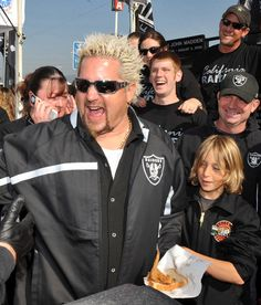 ba78d83ab9e I d love to tailgate at a Raiders game with Guy Fieri!  --  D he would have  some bomb tailgating food.