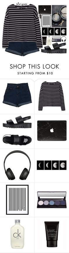 """One Direction: Striped Shirts"" by amaliakumala ❤ liked on Polyvore featuring MANGO, Jeffrey Campbell, Beats by Dr. Dre, Eleanor Stuart, Wet n Wild and stripes"