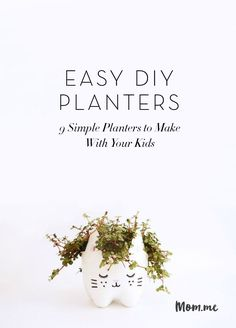 Check out these really cute DIY planters!