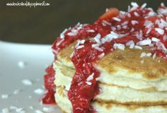 Fast Paleo » Coconut Pancakes and Strawberry Syrup - Paleo Recipe Sharing Site