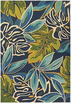 Couristan Covington Areca Palms Azure Forest Green Area Rug is a blue tropical rug made of the finest fiber-enhanced Courtron polypropylene, its water resistant and even considered pet friendly. Outdoor Area Rugs, Indoor Outdoor, Outdoor Spaces, Outdoor Patios, Outdoor Kitchens, Outdoor Living, Art Inspo, Art Drawings, Illustration Art