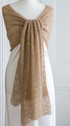 Gold coloured crochet lace wedding / by CrimsonRabbitBurrow