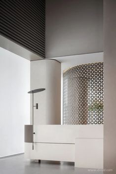 首发 | 飞视设计 · 乌托之境 Lobby Interior, Interior Walls, Interior Architecture, Interior Design, Hotel Interiors, Office Interiors, Minimalist Living, Minimalist Design, Feature Wall Design