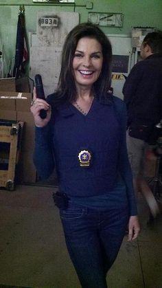 Looking gorgeous on set of CSI:NY