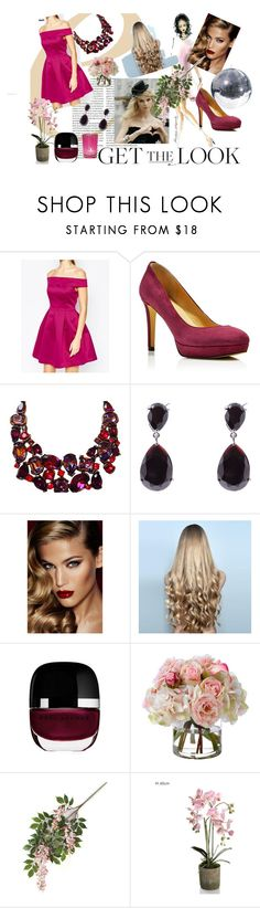 """""""Get the Look: Met Gala 2016-taylor swift inspired"""" by xoxomahjabeenxoxo on Polyvore featuring Warehouse, Ivanka Trump, Kenneth Jay Lane, Charlotte Tilbury, WigYouUp, Marc Jacobs, Diane James, Cultural Intrigue, GetTheLook and MetGala"""