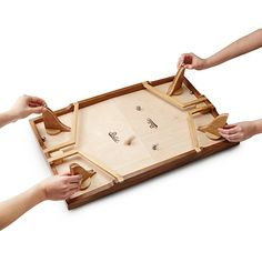 Face off against friends and family in a fast-rolling ricochet game that provides hours of old-fashioned fun.