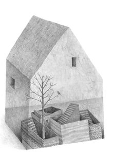 Stefan Zsaitsits House Illustration, Illustrations And Posters, Ad Photography, City Scene, Pencil And Paper, Art Education, Painting & Drawing, Art Drawings, Art Pieces