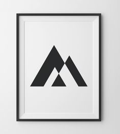 Geometric Triangle Print, Geometric Black and White Print, Minimal Triangle, Negative Space BW Trian - Tattoo MAG Tattoos Mandala, Tattoos Geometric, Geometric Art, Geometric Sleeve, Forearm Tattoos, Sleeve Tattoos, Space Illustration, Illustrations, Negative Space Tattoo