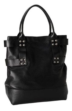 Hinge® Perforated Le     Hinge® Perforated Leather Tote