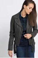 geaca-de-primavara-din-oferta-asnwear-3 Leather Jacket, Jackets, Fashion, Studded Leather Jacket, Down Jackets, Moda, La Mode, Leather Jackets, Fasion