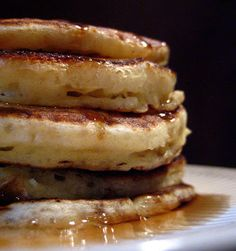 My Own Sweet Thyme: Overnight Pancakes. 1 package active dry yeast ¼ cup warm water (105 – 115 degrees) 2 teaspoons sugar 4 cups all-purpose flour 2 tablespoons baking powder 2 teaspoons baking soda 1 teaspoon salt 6 large eggs 1 quart buttermilk ¼ cup vegetable oil
