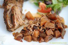 ½ lb. bacon 2 beets 2 potatoes ½ onion 3 garlic cloves 1 tsp. kosher salt 1 tsp. ground black pepper ¼ tsp. ground marjoram ¼ tsp. g...