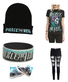"""Pierce the veil"" by sademogirl ❤ liked on Polyvore featuring Glamorous"