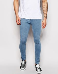 8869776ad15 Dr Denim Jeans Kissy Low Spray On Extreme Super Skinny Superlight Stone  Wash at asos.com