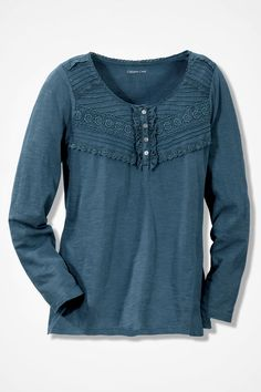 Lace Charmed Henley - Coldwater Creek