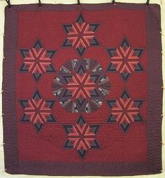 Fan Star Patchwork Amish Quilt