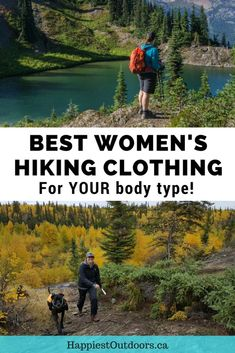 Best women's hiking clothing for your body type. 11 female hikers provide their expert recommendations on women's hiking clothing for curvy, petite, plus-sized, tall and slim body types. hiking gear for beginners Hiking Tips, Camping And Hiking, Hiking Gear, Hiking Backpack, Camping Gear, Backpacking Tips, Hiking Shoes, Best Hiking Pants, Adventure Travel