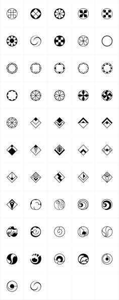 Rotata Mysticons were designed by Hellmut G. Bomm in 2004 released by URW of Germany. An interesting collection of icons and symbols in various styles with a slight hint of Art Deco. Geometric Logo, Geometric Designs, Geometric Shapes, Graphisches Design, Logo Design, Symbol Design, Symbole Tattoo, Art Deco Tattoo, Art Deco Logo
