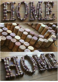 DIY Wine Corks / DIY con corchos de by Mamirrachadas ( García) Más Beer Crafts, Wine Cork Crafts, Wine Bottle Crafts, Wine Cork Projects, Diy Craft Projects, Diy And Crafts, Wine Corker, Cork Art, Wine Craft