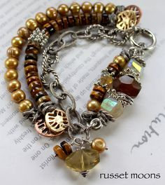 ON SALE bracelet rutilated quartz bracelet tigers by soulfuledges