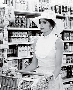 "Katherine Ross in The Stepford Wives 1975…""There'll be somebody with my name and she'll cook and clean like crazy, but she won't take pictures and she won't be me. She'll be like one of those robots in Disneyland."" Katherine Ross's character in The Stepford Wives"