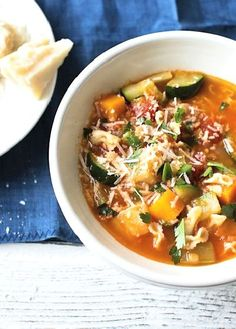 Low FODMAP Recipe and Gluten Free Recipe - Healthy minestrone soup - http://www.ibs-health.com/healthy_minestrone_soup.html